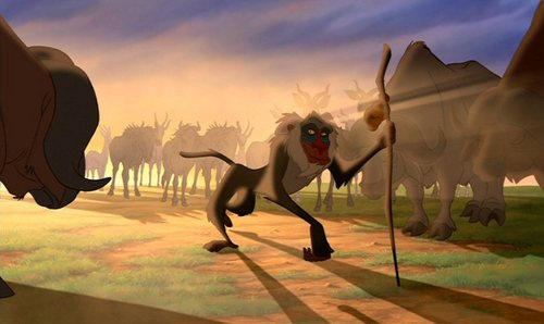 Other than a Mandrill, what is Rafiki?