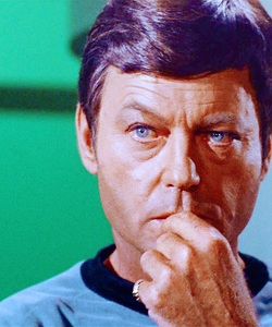 How old was DeForest Kelley when he made Star Trek: TOS?