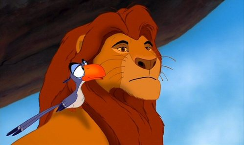 "Mufasa: ""What am I gonna do with him"" ... What is Zazu's reply?"
