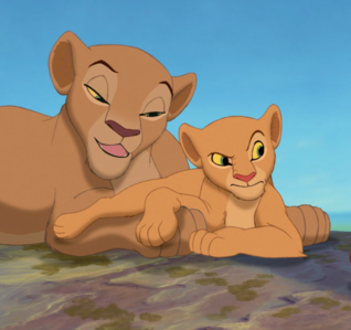 Nala looks just like her mother, Sarafina