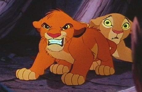 Who is Simba protecting Nala from?