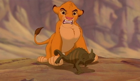 What is Simba doing?