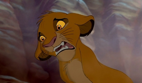 Why is Simba making this face?