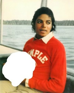 What is Michael holding in this picture?