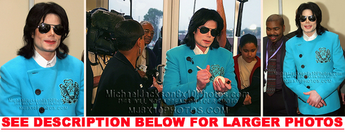 The photographs of Michael were taken during his trip to Gary, Indiana back in 2003