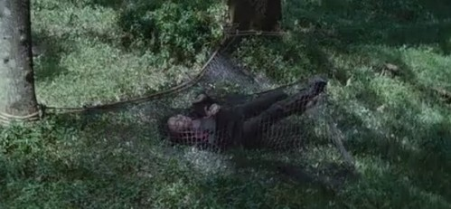"How many times did Rue scream ""Katniss""after she was trapped?"