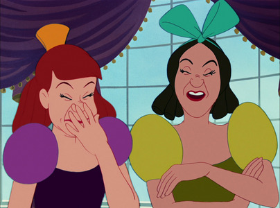 Why is Anastasia and Drizella laughing?