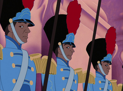 What are the palace guards looking at?
