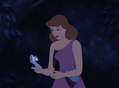 What happens to Cinderella's Left glass slipper?