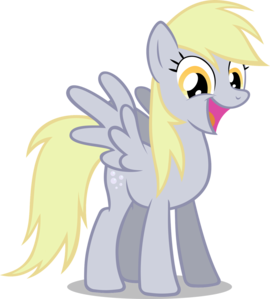 why is derpy mosly not in ponyvile