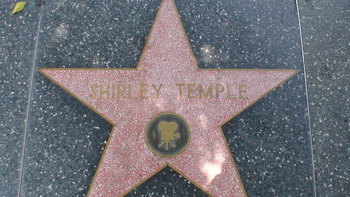 Shirley Temple's Hollywood  Walk of Fame. What street ?