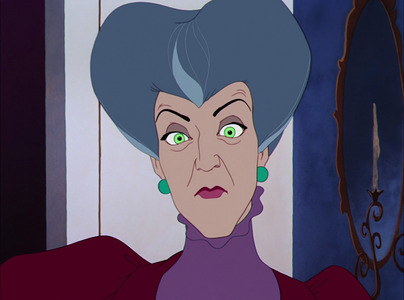 Why is Lady Tremaine making this face?