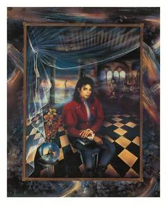 This portrait of Michael was painted 由 good friend, Brett Livingstone-Strong