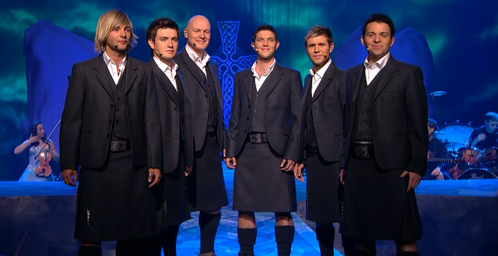 Which two Celtic Thunder members were at the first Meet & Greet of the 2013 North American tour?