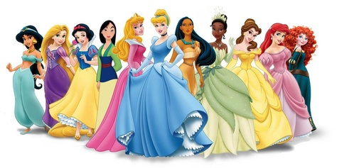 Which Disney Princess have red as her signature color?