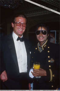 Who is this British-born actor in the photograph with Michael Jackson