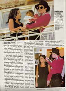 Michael and first wife, Lisa Marie Presley, were featured in an makala in the October 1994 issue of EBONY magazine