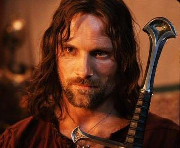 Aragorn from The Lord of the Rings goes with _______.