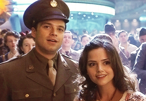 What is the name of the girl besides Bucky Barnes from Captain America: The First Avenger?