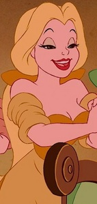 The Yellow Bimbette has a similar hairstyle as which disney Princess?