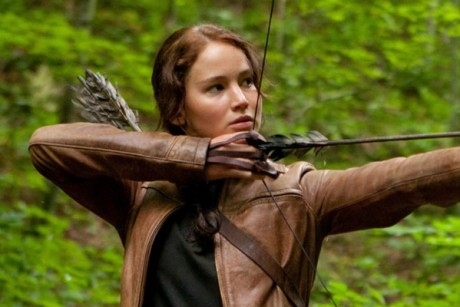 Who do I prefer Katniss Everdeen with in the Hunger Games series?