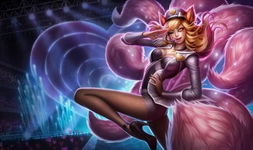 Which girl group is Popstar Ahri based on?