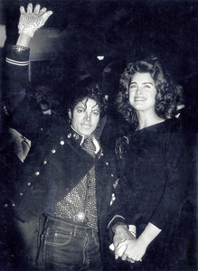 This phototograph of Michael and Brooke Shields was taken at a party held in his honor back in 1984