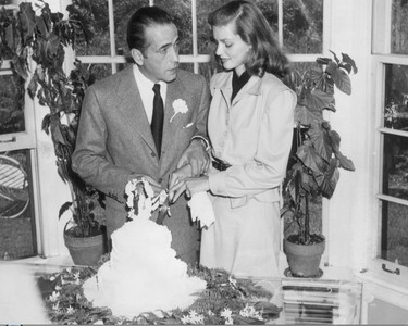 How old was Lauren was she married Bogie?