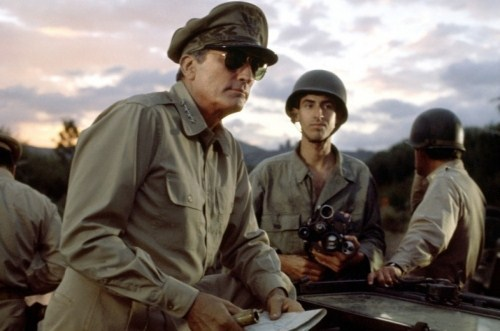 Which prominent WWII American general did Gregory Peck portray in a 1977 film?