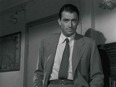 What is the name of Gregory Peck's character in the film?