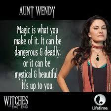 What can Aunt Wendy turn in to?