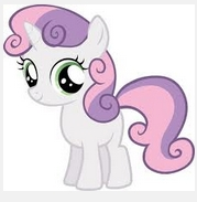 what color is sweetie belle's magic?