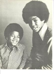 Who is this older brother in the photograph with Michael
