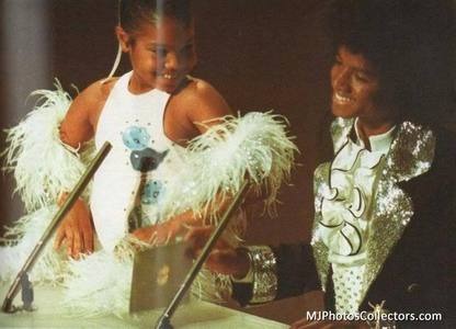 This photograph Michael an Janet was taken at the American Music Awards back in 1975
