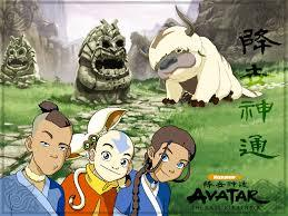 Why is aang traveling to different places with his friends?