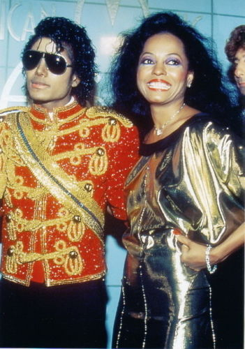 This photograph of Michael and Diana Ross was taken backstage at the 1984 American Music Awards
