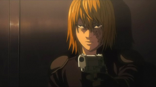 In the manga, when Kiyomi Takada asked (to be sure) if Mello was ordering her to undress, what did Mello say, in response?