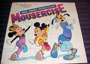 """This Disney album, """"Mousercise"""", was released in the 1980's"""