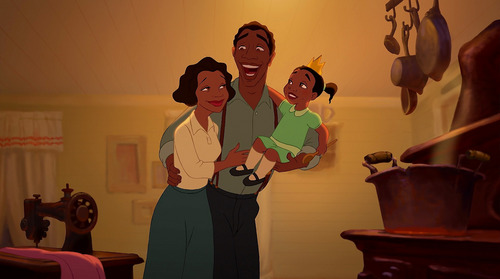 What are the names of Tiana's parents?