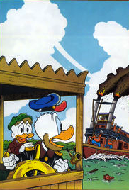 What was the name of Scrooge's Uncle Pothole's ship