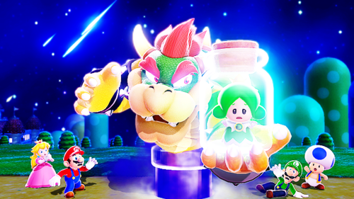 Super Mario 3D World - Who acts as the game's damsel/s in distress, replacing Peach in that role?