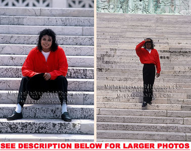 This photograph of Michael was taken while on tour In Italy back in 1988