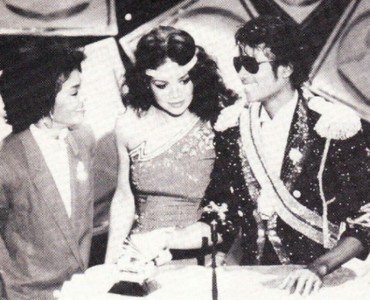 This photograph of Janet and her siblings was taken at the 1984 Grammy awards