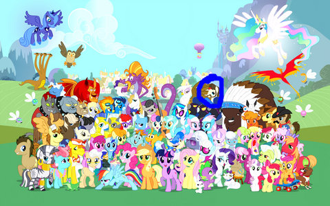 Who is this pony(circled with blue)?