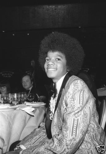 This photograph of Michael was taken at the 1973 Golden Globe Awards