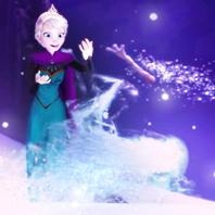 What does Elsa sing in this scene?