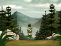 Why was toph walking alone in the forest?