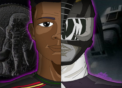 What is the morphing call Zack says when he morphs into the Black Mighty Morphin Ranger.