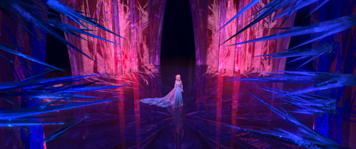 Why does Elsa just want to stay in her ice castle?
