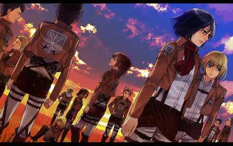 Which division did Mikasa joined after they graduated in 104th Trainess Squad?